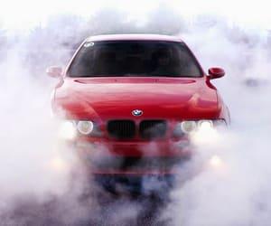 bmw, red, and smoke image