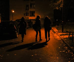 dark, night, and figures image