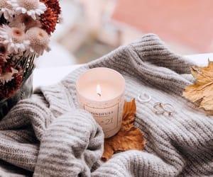 осень, листья, and свеча image