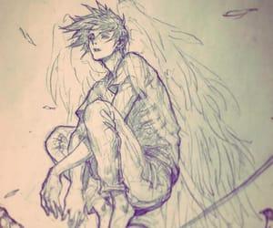 angel, artist, and boy image