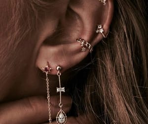 earring, goals, and piercing image