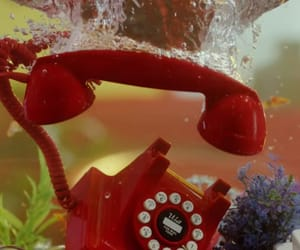 aesthetic, red, and telephone image