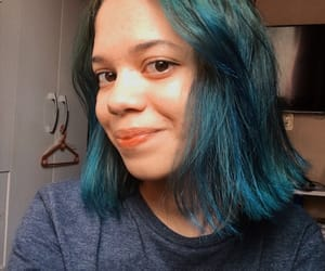 aesthetic, colored hair, and blue image