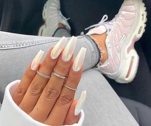 nails, white, and shoes image