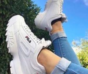 shoes, aesthetic, and Fila image