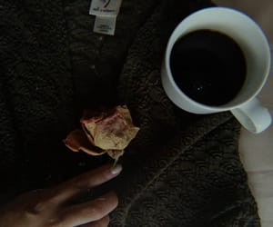 coffee, rose, and girl image