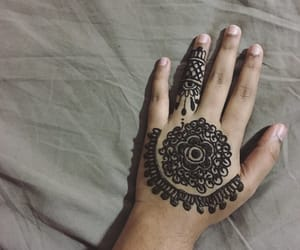 culture, henna, and flower image