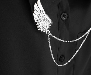 fashion, black, and wing image