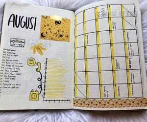 August, journal, and month image