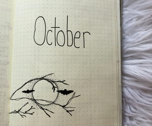 journal, month, and inkdrawing image