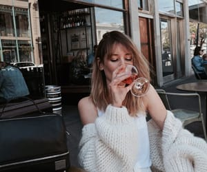 girl, drink, and fashion image