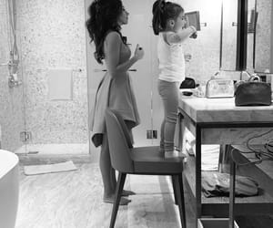 baby, bathroom, and daughter image