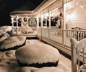 house, christmas, and lights image