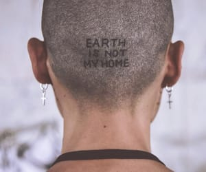 earth, inked, and girl image