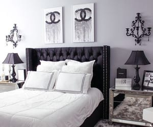 bedroom, black, and white image