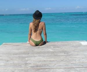 sea, beach, and girl image