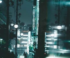 dusk, japan, and lights image
