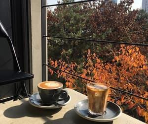 autumn, coffee, and orange image