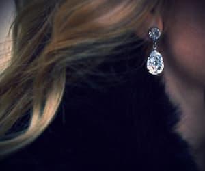 blonde, earring, and dark image