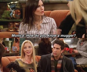 monica geller, funny, and ross geller image