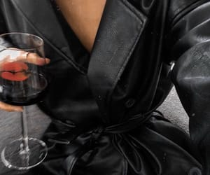 wine, black, and drink image