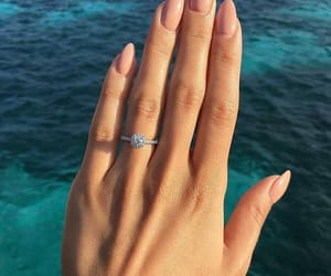 nails, ring, and outfit image