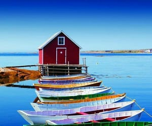 canada, landscape, and boats parking image