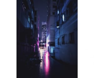 city, lights, and cyberwave image