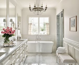 bathroom, house, and decoration image