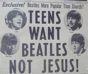 beatles, music, and jesus image