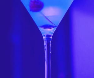 cocktail, blue, and drink image