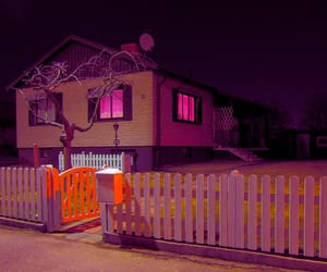 house, pink, and light image