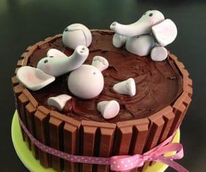bath, cake, and chocolate image