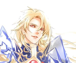 anime, knight, and blonde image