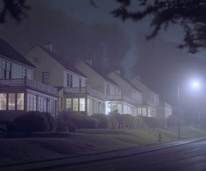 dark, street, and villa image