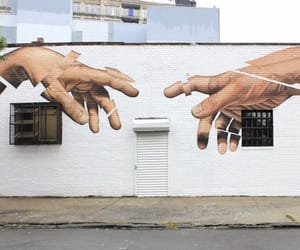 hands, white, and street image