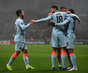Chelsea FC, eden hazard, and olivier giroud image