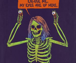 eyes, skeleton, and zombie image