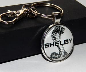etsy, ford shelby mustang, and car logo keychain image