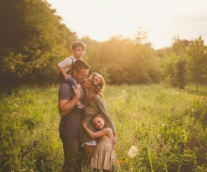 children, nature, and family image