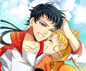sailor moon, usagi tsukino, and seiya kou image