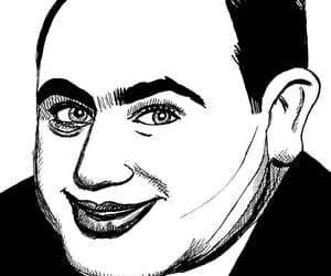 al capone, cartoon, and drawing image
