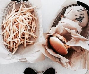 beverages, diet, and French Fries image