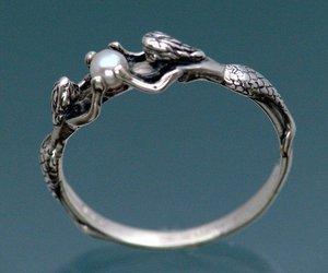 mermaid, ring, and pearl image