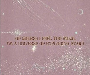 quotes, stars, and universe image