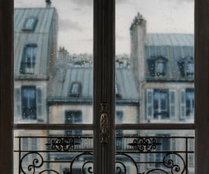 window, rain, and paris image