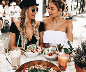 eat, friends, and food image