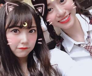 nmb48, naiki kokoro, and shiroma miru image