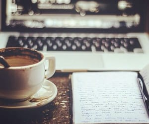 aesthetic, coffee, and writing image
