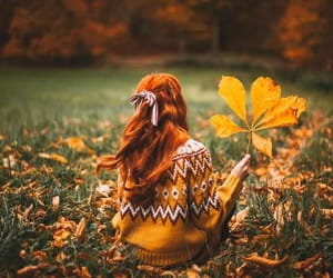 autumn and girl image